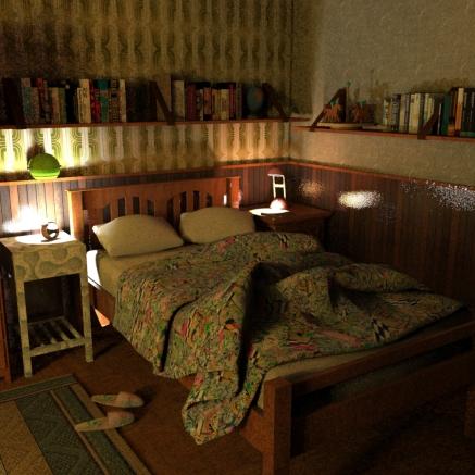 SketchUp render-- Vero´s Room
