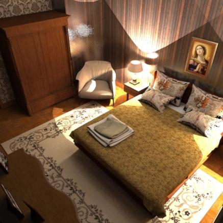 SketchUp render-- Mother´s Room