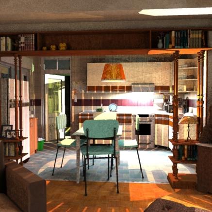 SketchUp render-- Kitchen / Living Room 02