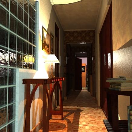 SketchUp render-- Corridor